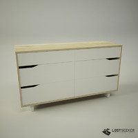 ikea mandal chest drawers 3d max