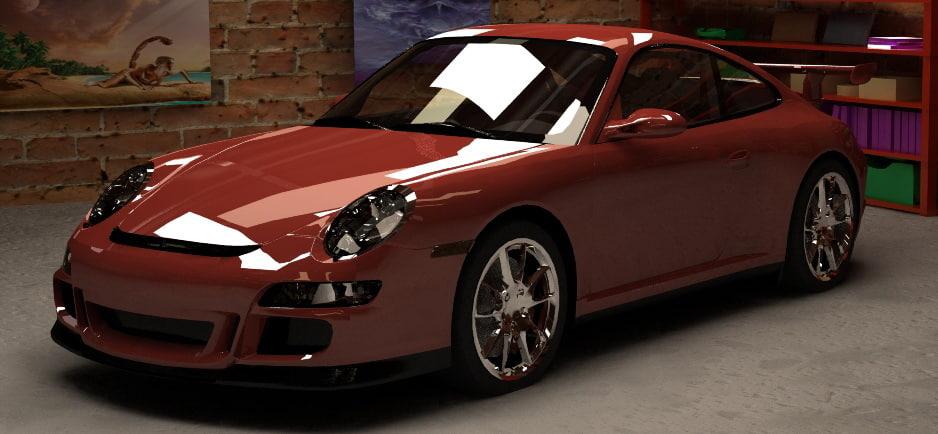 3d racing car gt3 911 model