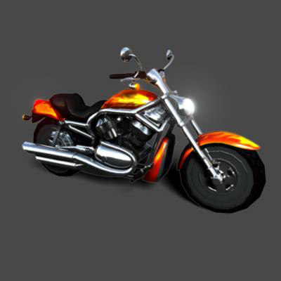 motorcycle motor 3d obj
