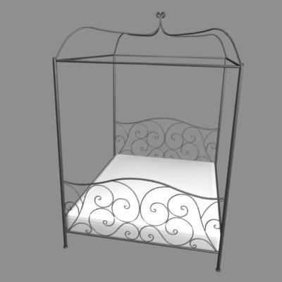 bed forge 3d model