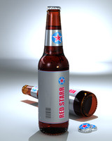 Unbranded Beer Bottle
