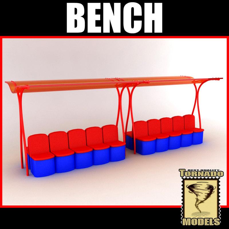 reserve bench 3d model