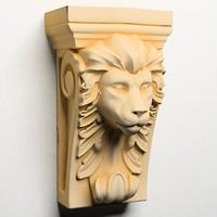3d model lion head corbel
