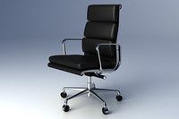 3d eames softpad group executive chair