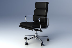 3d eames softpad group executive chair