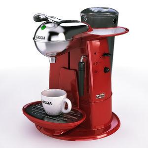 3d model coffee maker gaggia l