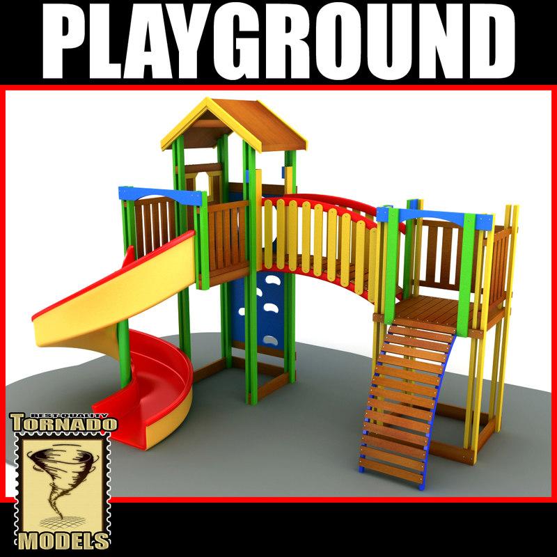 playground slide x 3d 3ds