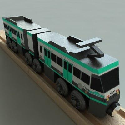 wooden railway toy metrolink 3d model