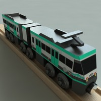 wooden railway toy metrolink 3d model