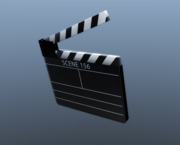 movie clapper 3d model