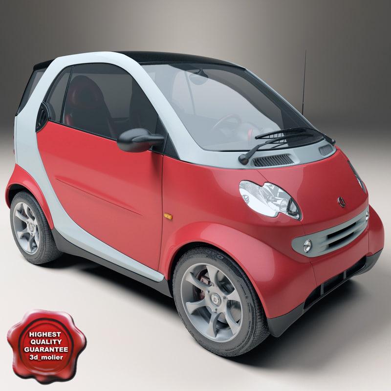 mercedes-benz smart fortwo 3d model