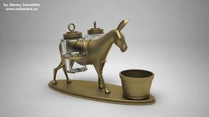 mule salt cellar 3d model
