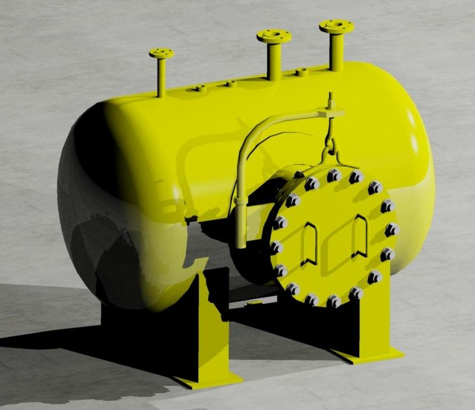 pressure vessel 3d model