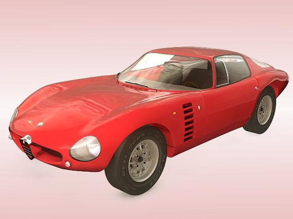 alpha romeo canguro 1964 3d model