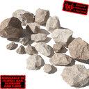 Rocks - Stones 5 Jagged RS09 - Light Tan 3D rocks or stones