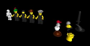 lego minifigs spare 3d model
