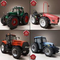 3d tractors set case model