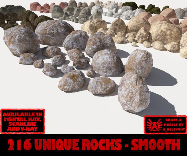 smooth rocks - 3d model