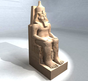 main statue abu simbel 3d model