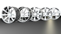 generic car wheels 3d model