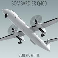 Bombardier Q400 Generic White