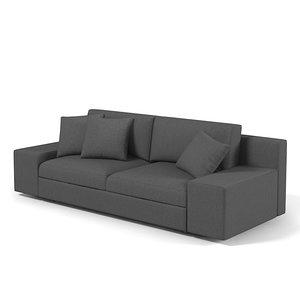 sofa contemporary modern 3d model