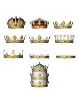 heraldic colección coronas heráldicas 3d c4d