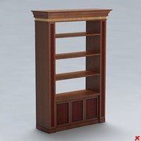 shelves books 3d model