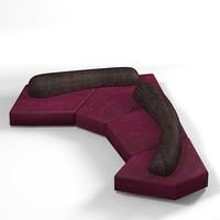 edra sofa modern 3d model