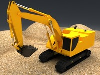 excavator industrial 3d model