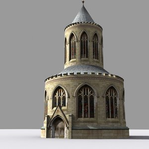 3d model medieval gothic chapter house