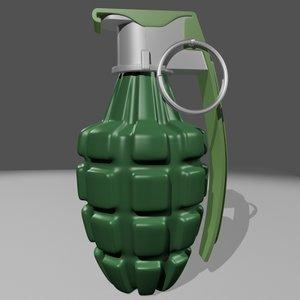 grenade handgrenade bomb 3d model