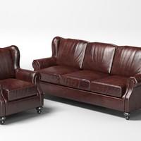 3d henredon classic sofa model