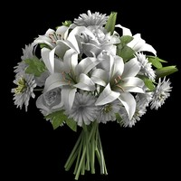 ivory entrance bouquet 3d model