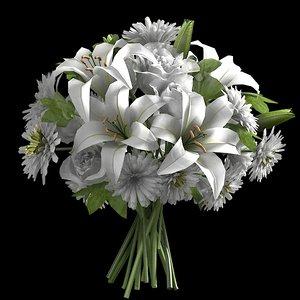 ivory entrance bouquet 3d model