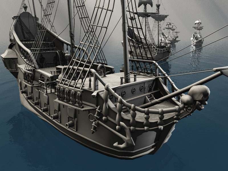 directx jolly roger pirate ship