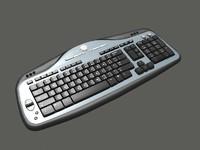 3d model modern keyboard