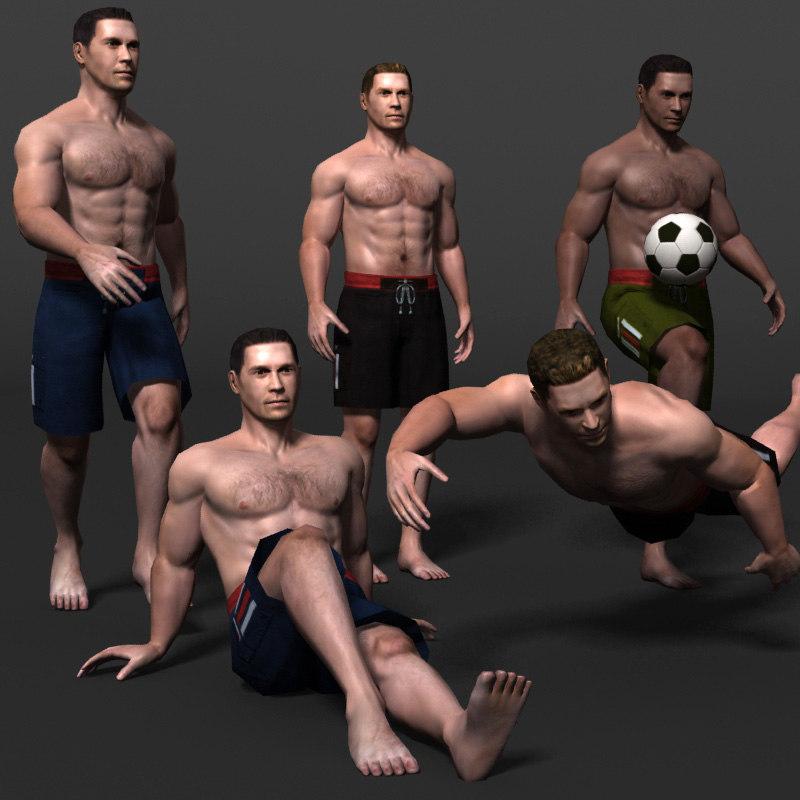 3d male man guy