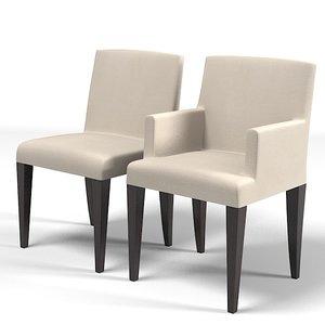 3d meridiani chair armchair