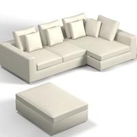 minotti modern sofa 3d model
