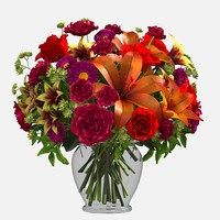 mix roses lilies asters carnations