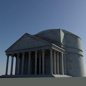obj roman pantheon