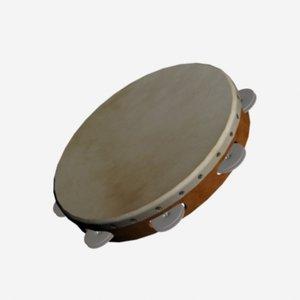 hand tambourine 3d model