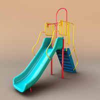 3d children slide