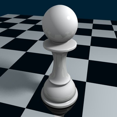 3ds max chess pawn