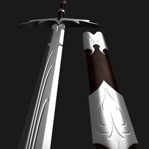 3ds max elegant sword