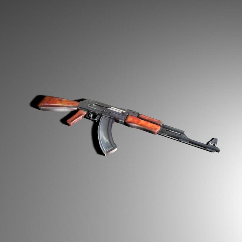 3d ak-47 weapons model