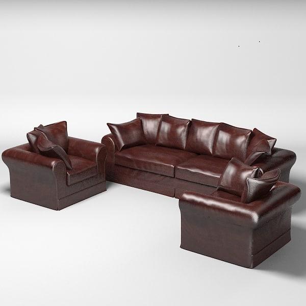 roche bobois sofa 3d max. Black Bedroom Furniture Sets. Home Design Ideas