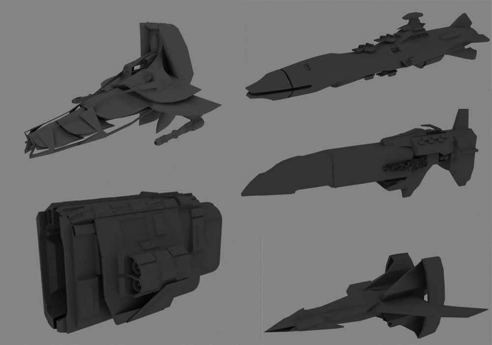 pack space 3d model