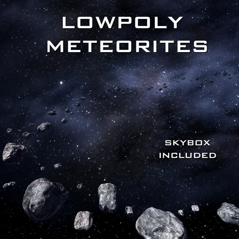meteorites skyboxes 3d model